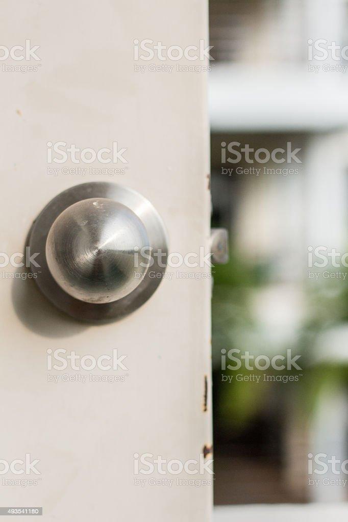 door knob stock photo