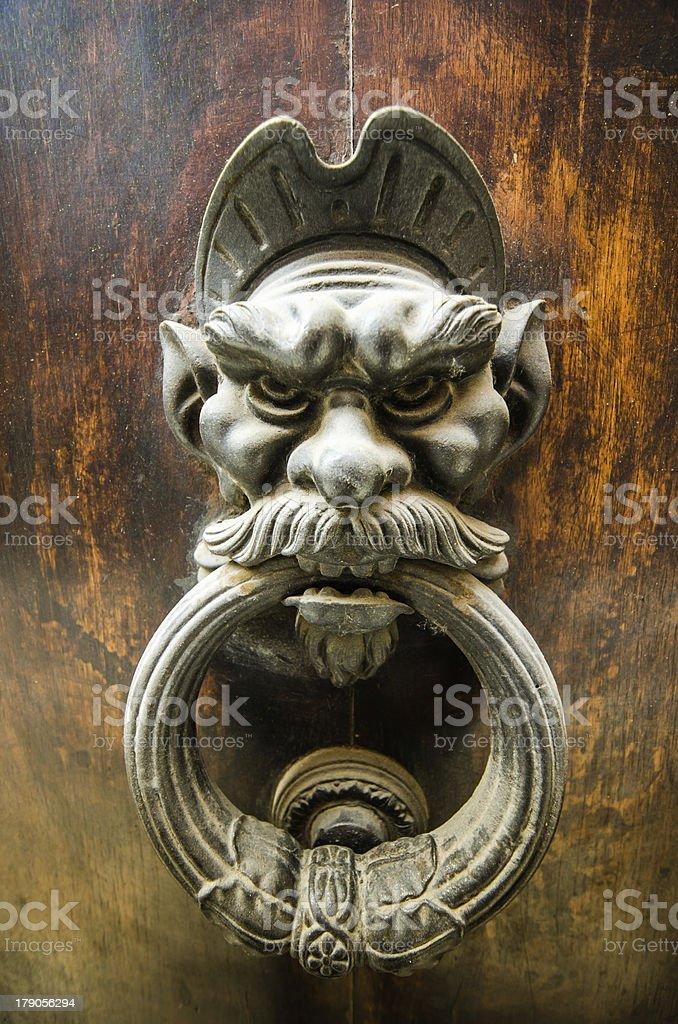 door knock in sarteano tuscany  italy stock photo