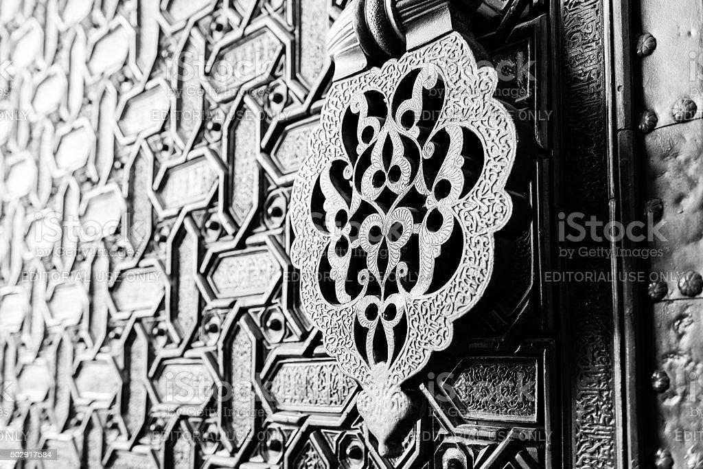 Door knocker in Seville stock photo