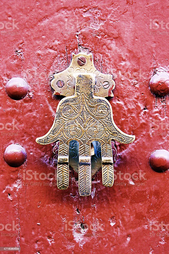 Door knocker stock photo