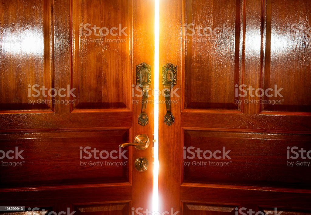 door lighting stock photo