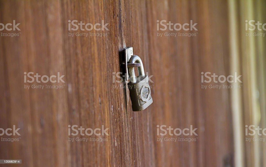 Door Locked royalty-free stock photo