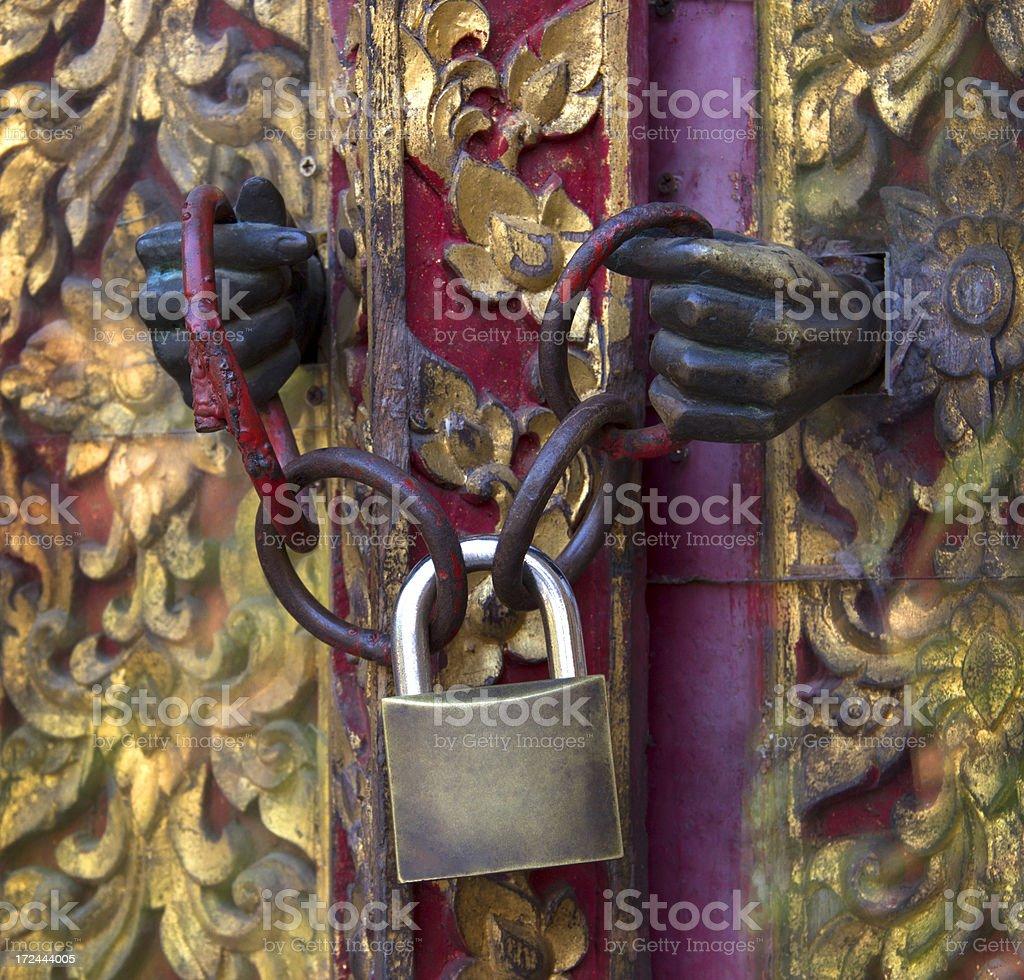Door locking royalty-free stock photo