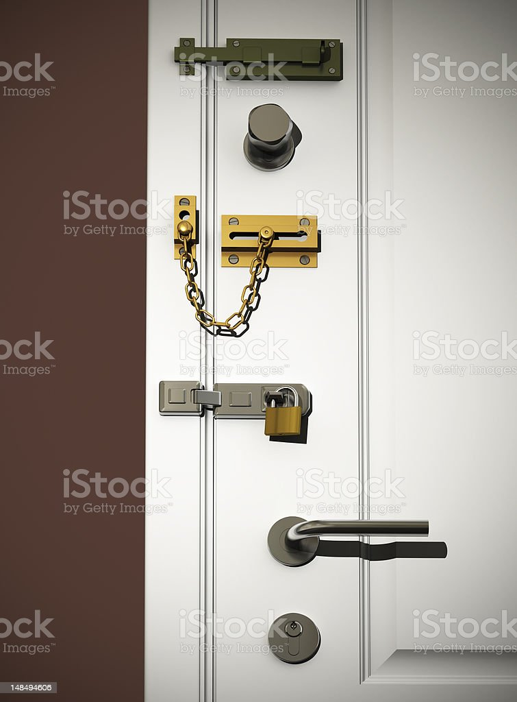 door locks stock photo