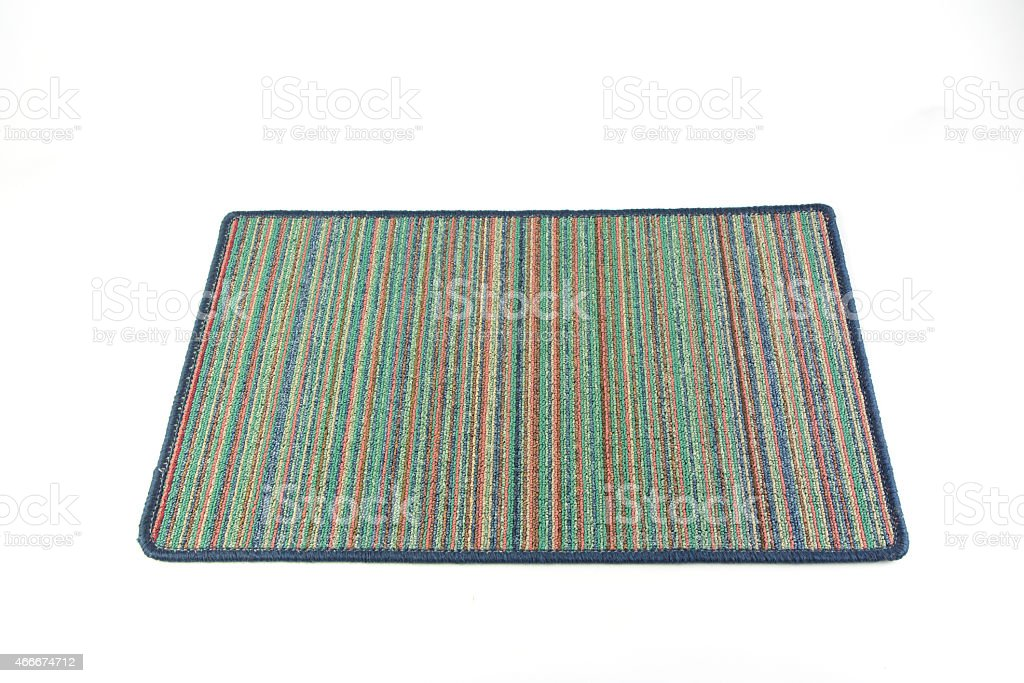 Door mat isolated on white background royalty-free stock photo
