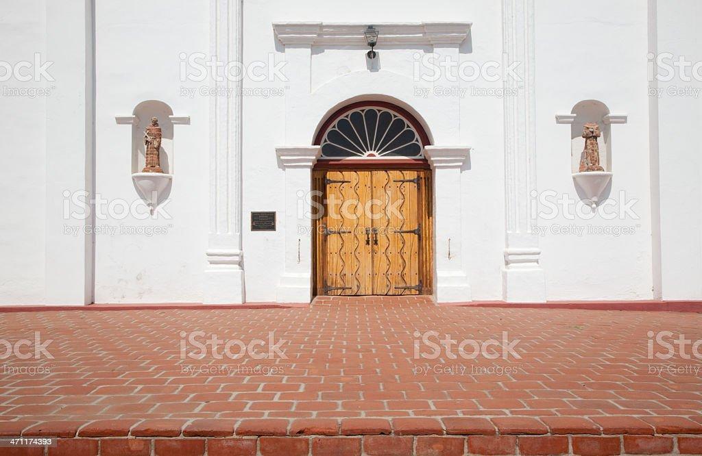 Door, Mission San Luis Rey De Francia, Oceanside, California royalty-free stock photo