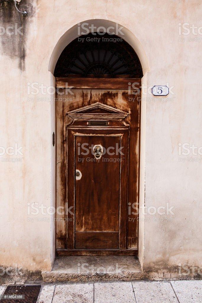 Door No. 5 - rusty and old stock photo