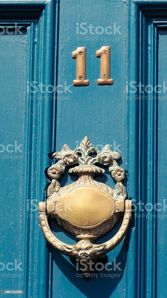 Door numer 11 stock photo
