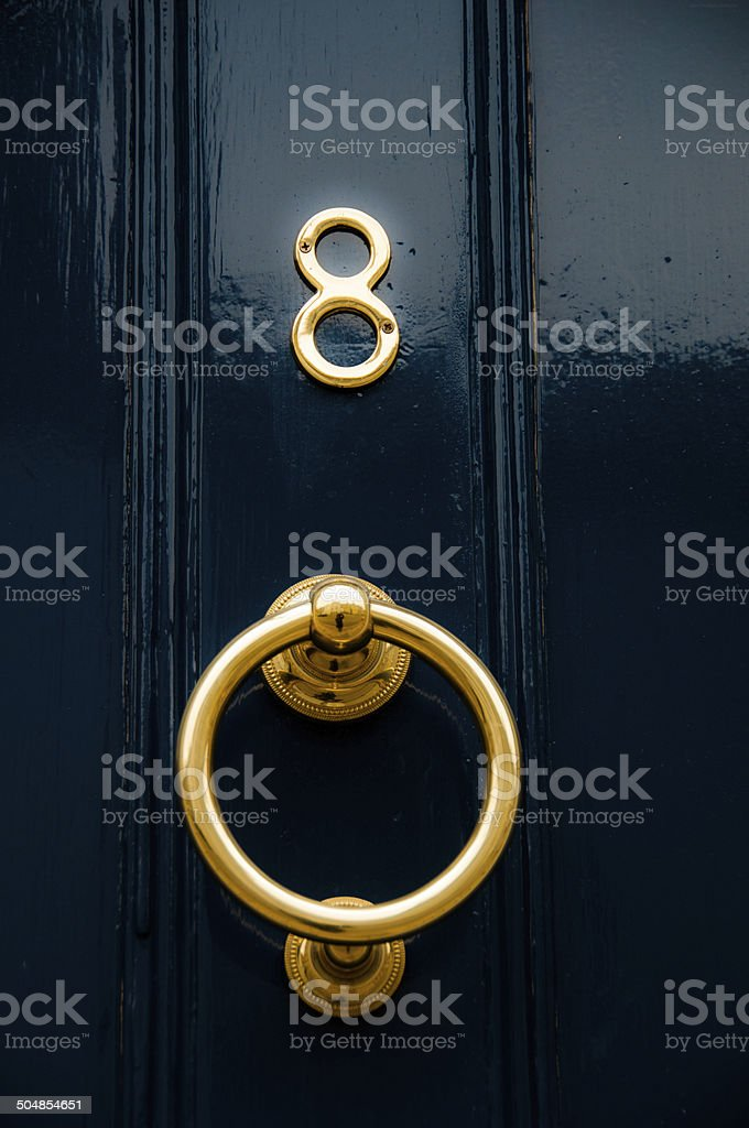 Door Number 8 stock photo