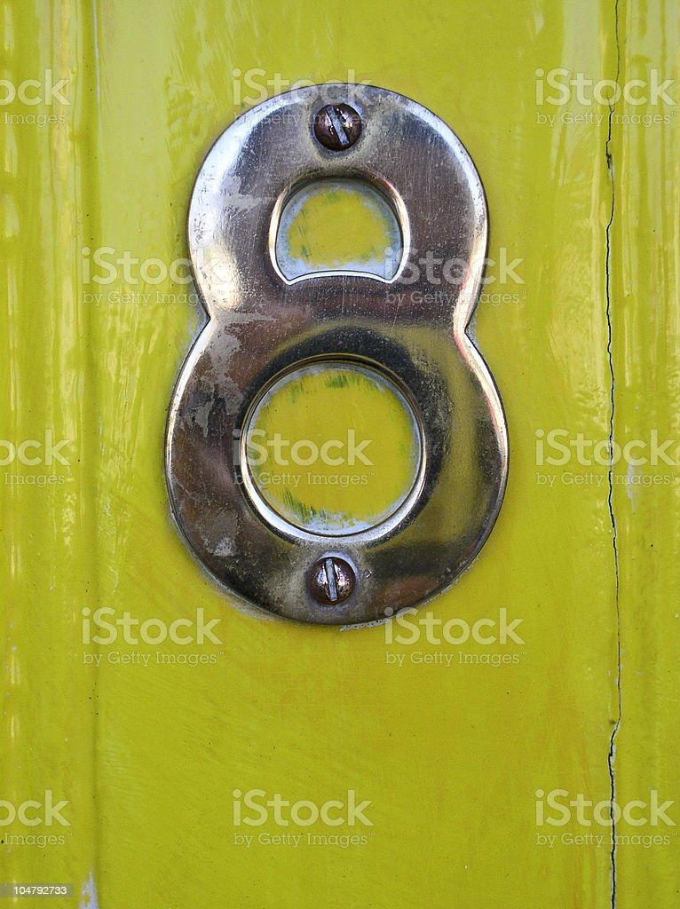 Door number eight royalty-free stock photo