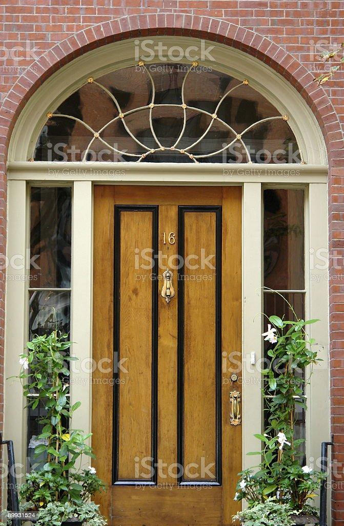 Door Number Sixteen Boston royalty-free stock photo