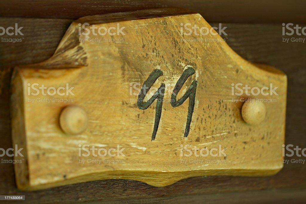 Door Numbers stock photo