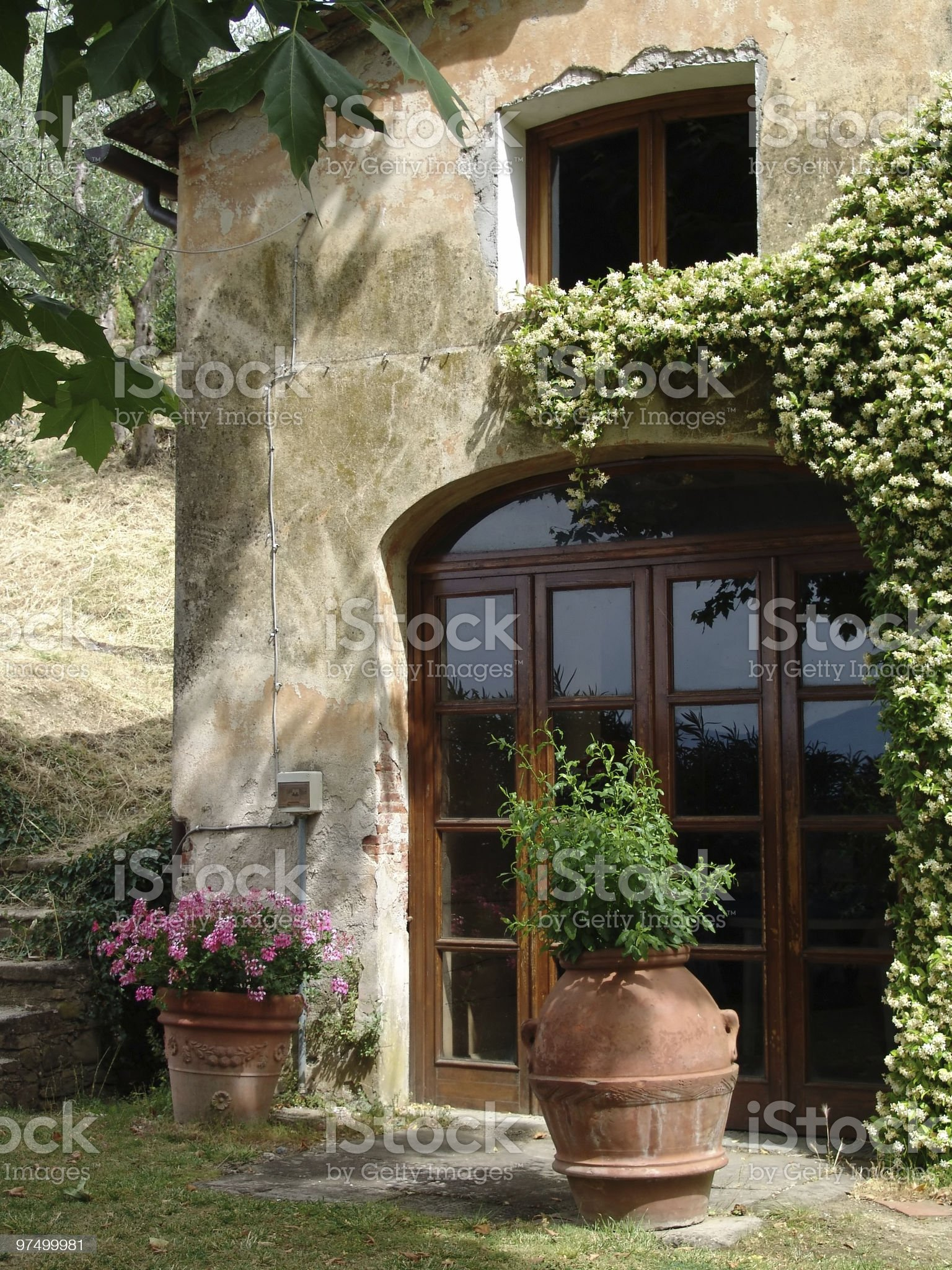 door of a house in tuscany royalty-free stock photo