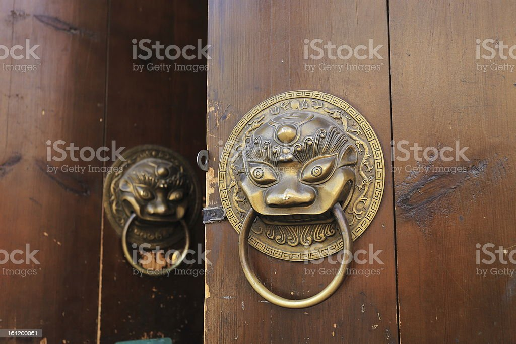 door of Chinese historic building royalty-free stock photo