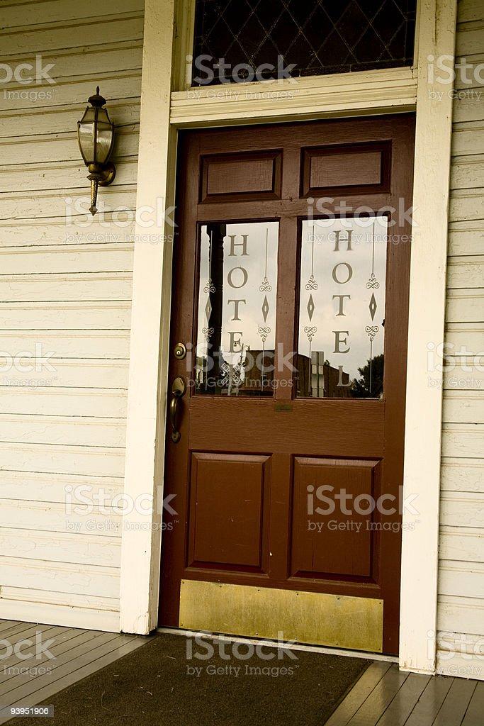 Door of Hotel royalty-free stock photo