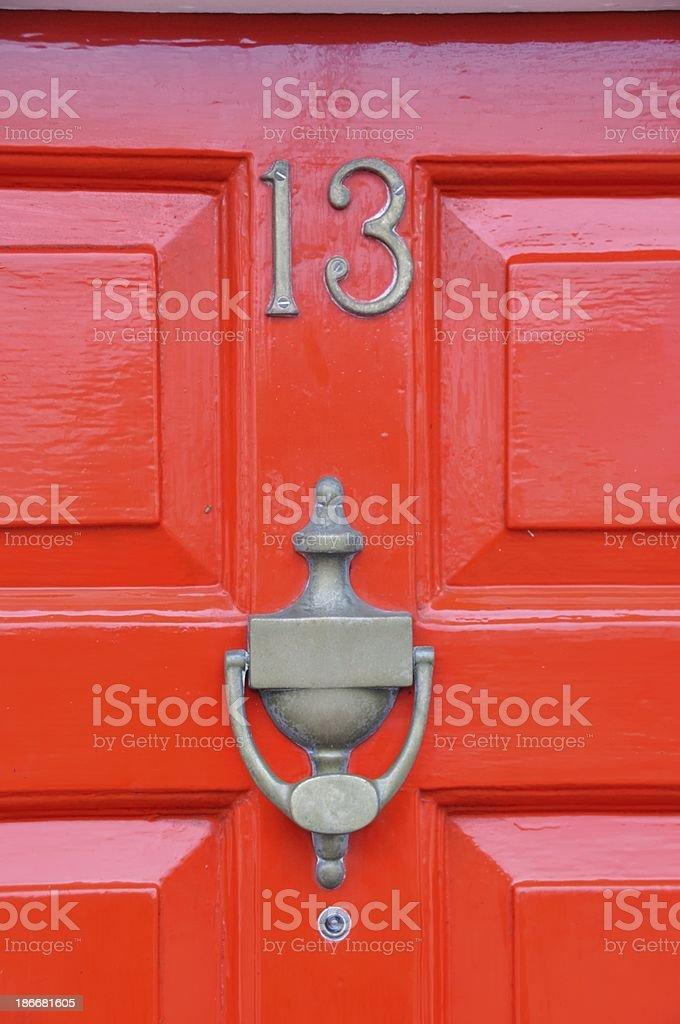 Door of house 13 royalty-free stock photo