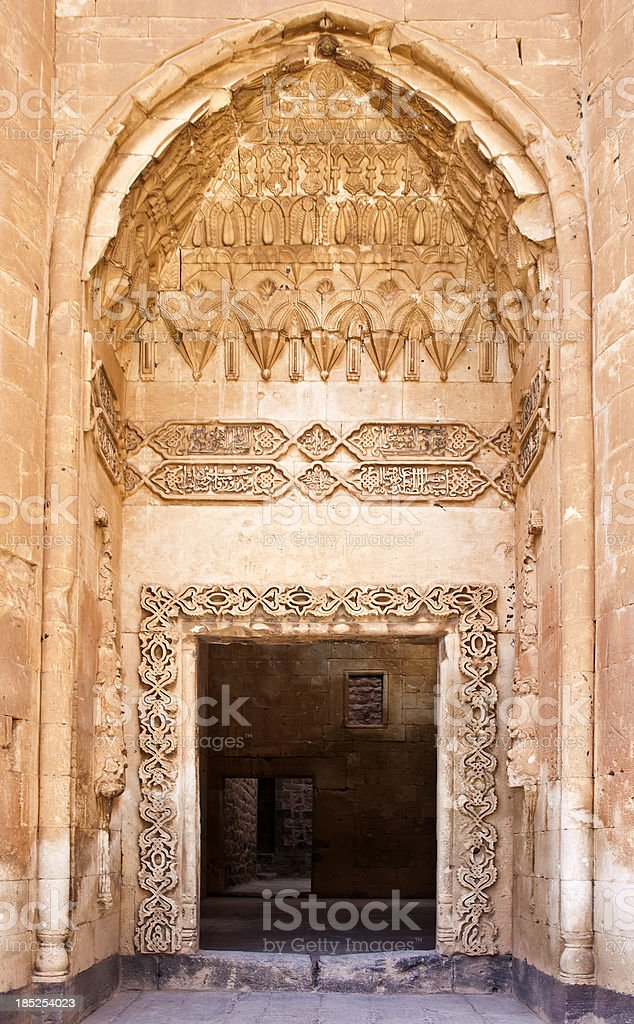 Door of Ishak Pasha Palace stock photo
