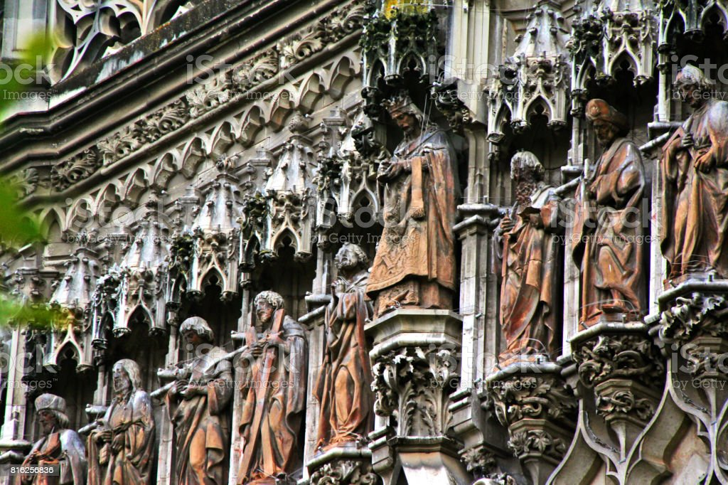 Door of the Conception, in the North facade at Patio de los Naranjos of Cathedral of Saint Mary of the See (Catedral de Santa Maria de la Sede), or Seville Cathedral, Seville (Sevilla), Andalusia, Southern Spain stock photo