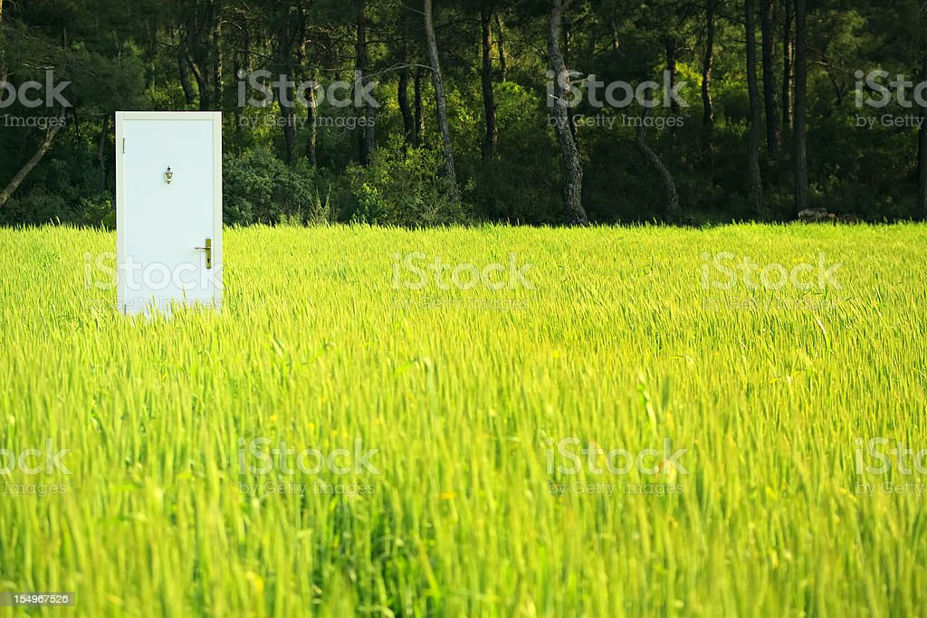 Door on Field royalty-free stock photo
