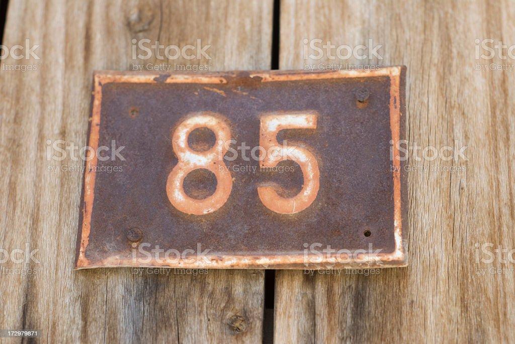 Door Plate 85 royalty-free stock photo