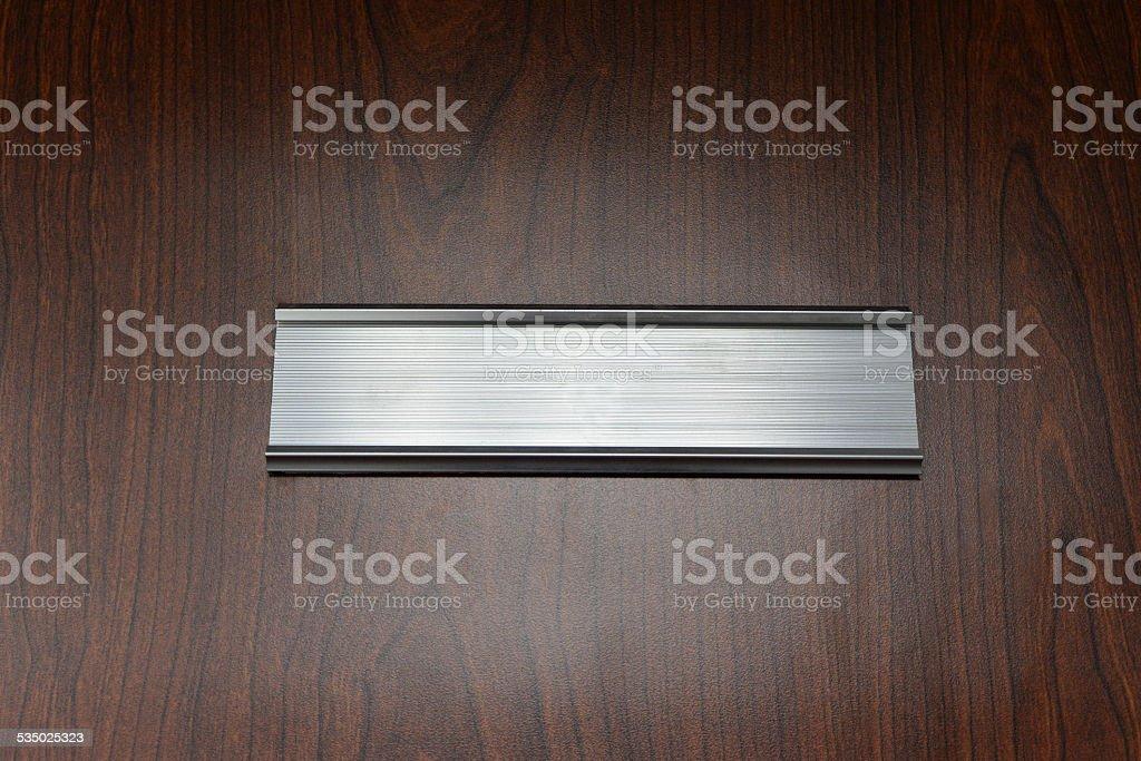door plate stock photo