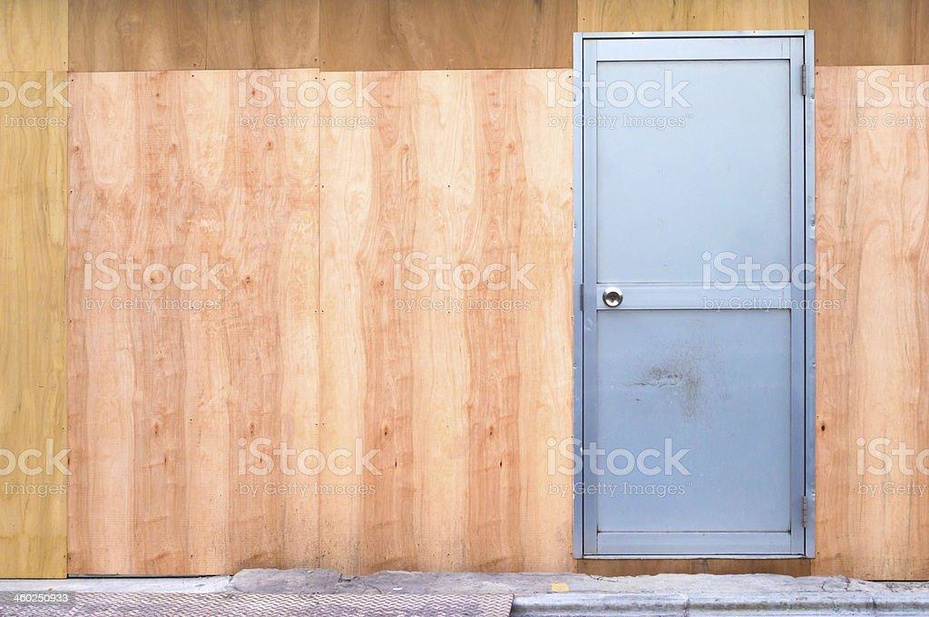 Door. plywood. stock photo