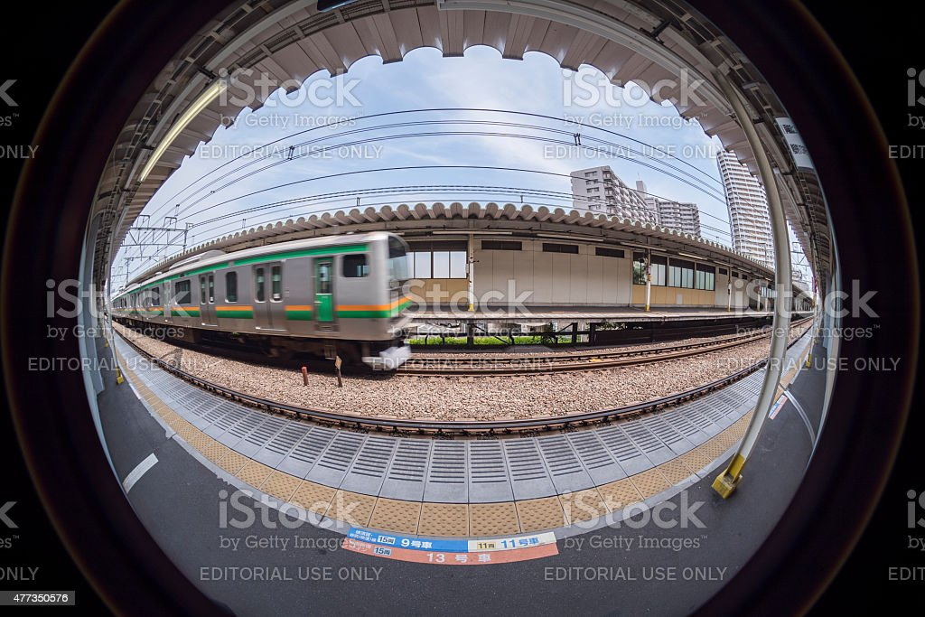 Door position of the train royalty-free stock photo