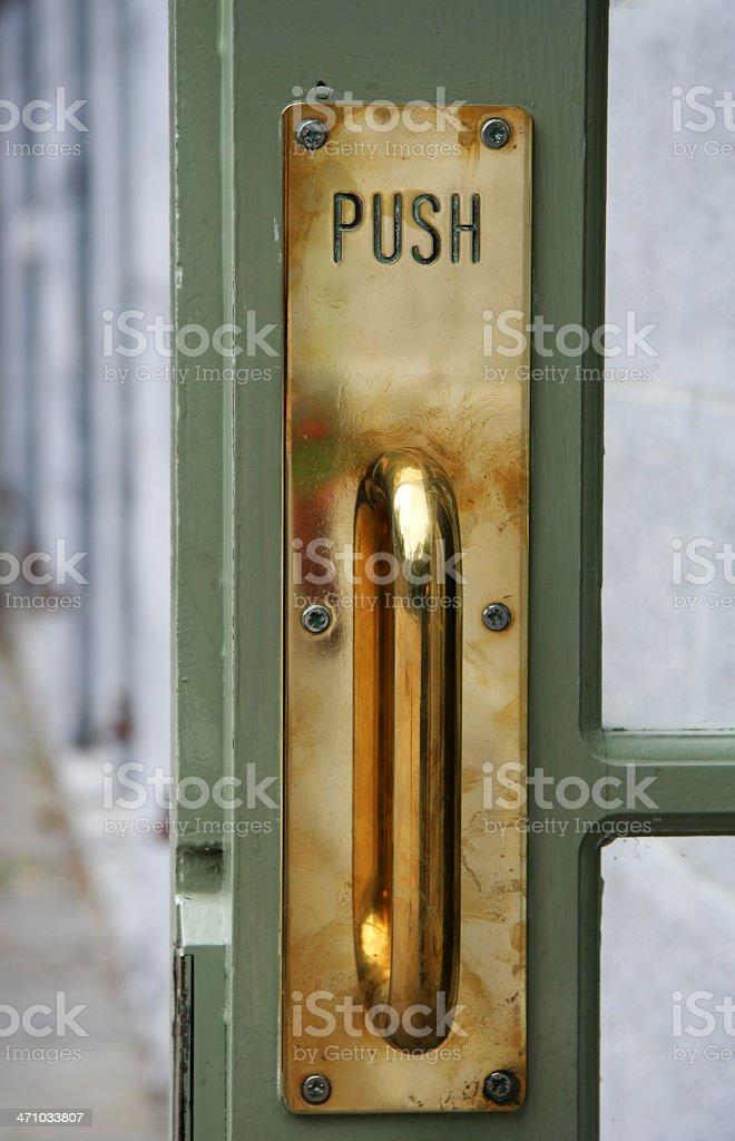 Door pusher stock photo