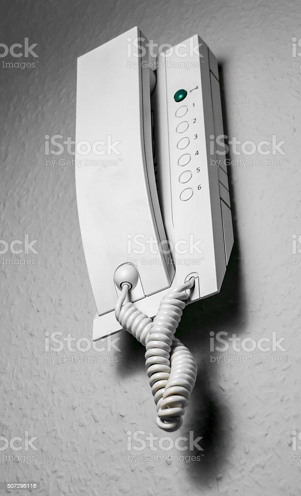 Door Security Intercom stock photo