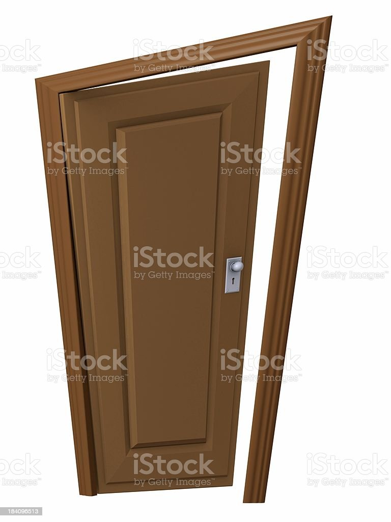 Door slightly open royalty-free stock photo