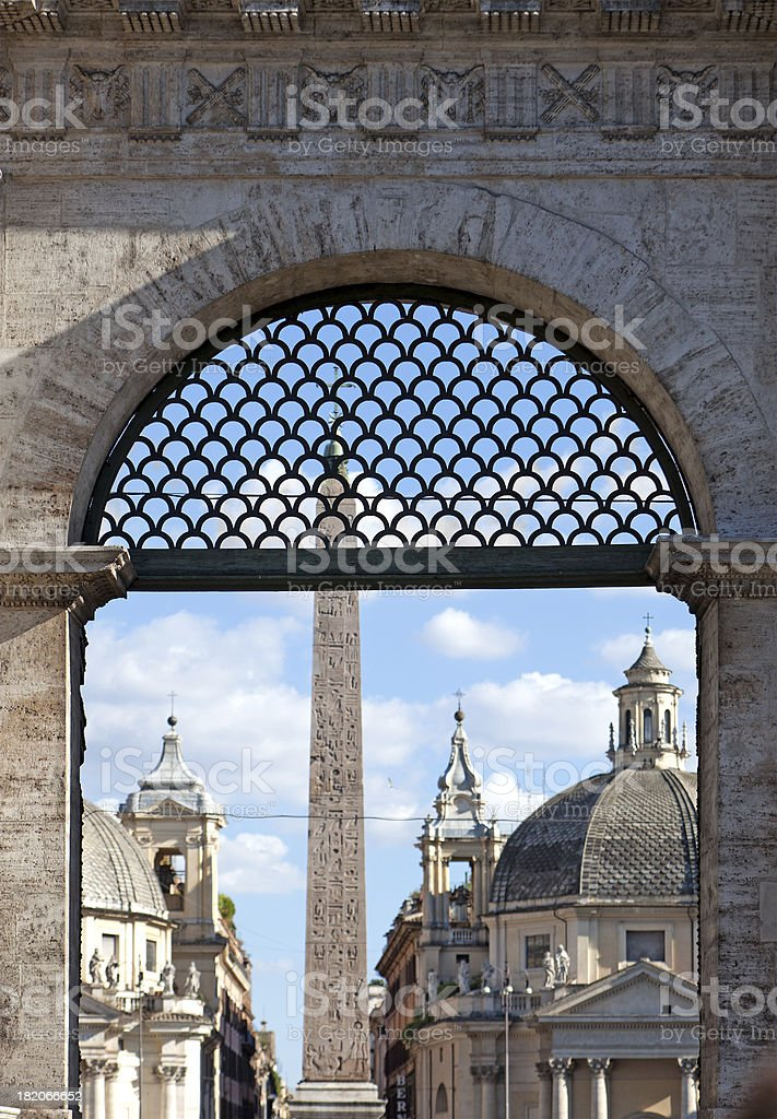 Door to ancient Rome royalty-free stock photo
