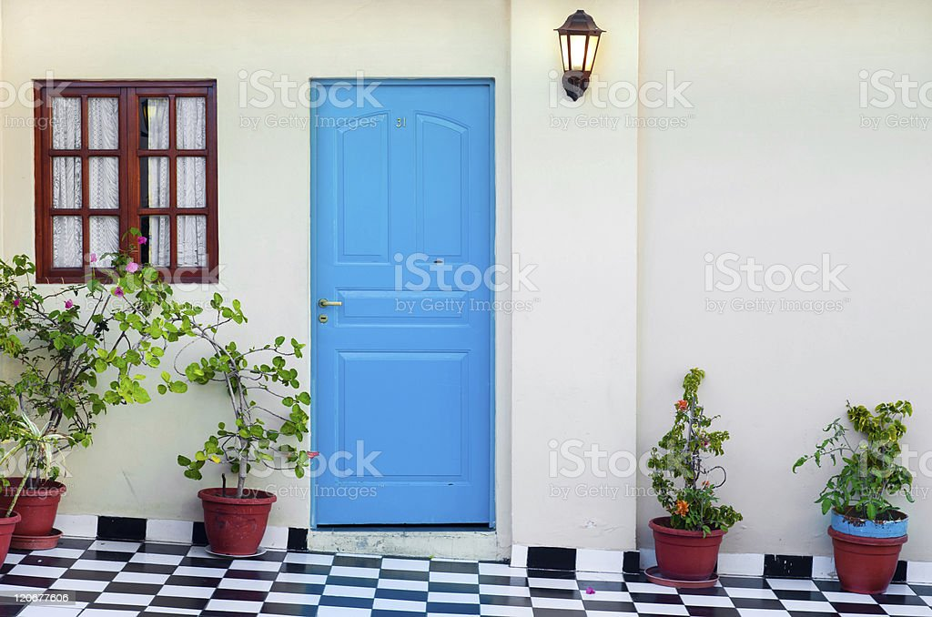 Door to apartment in Buenos Aires royalty-free stock photo