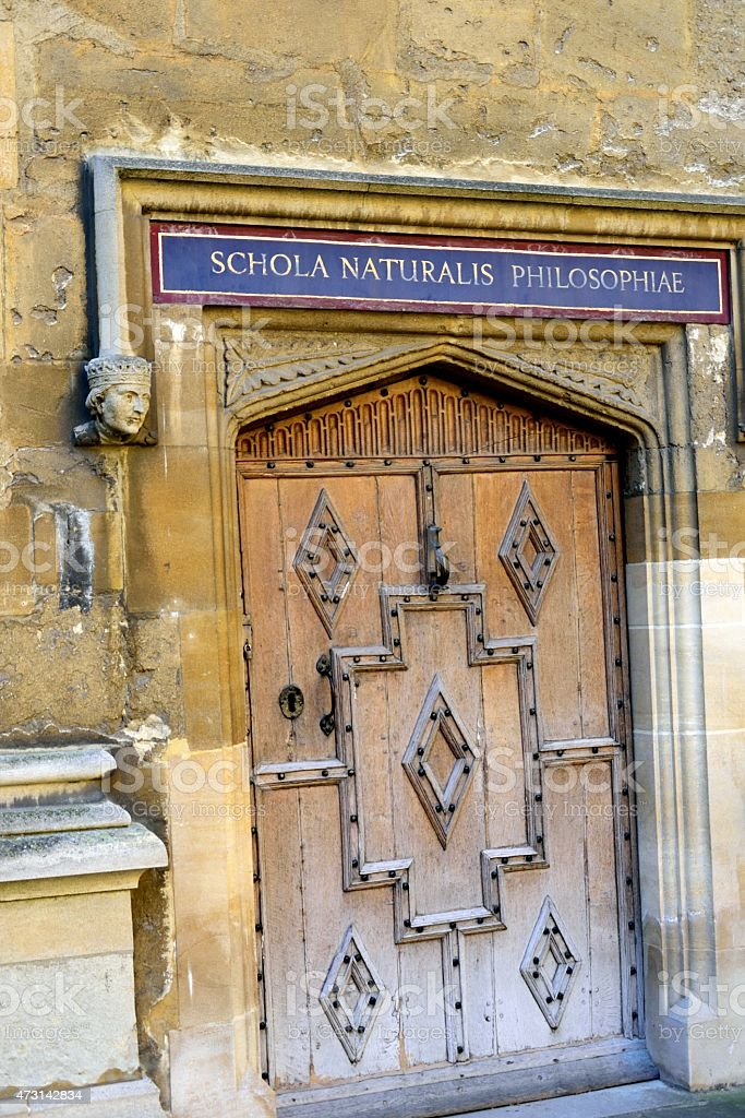 Door to bodleian  library stock photo