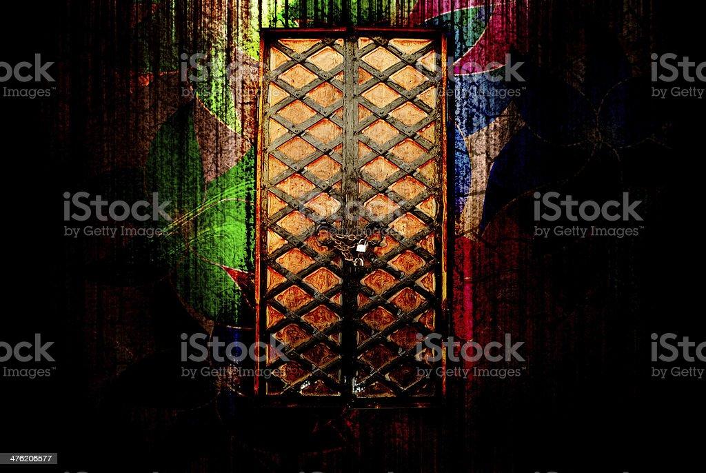 door to fairy tail royalty-free stock photo