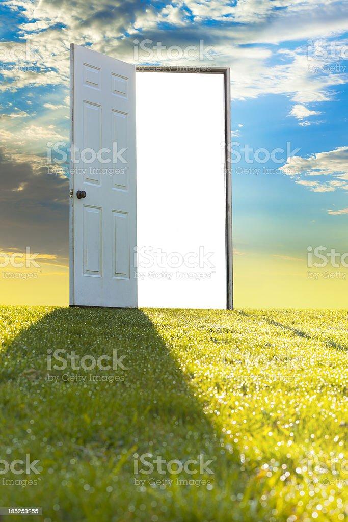 Door To Heaven on Hilltop royalty-free stock photo