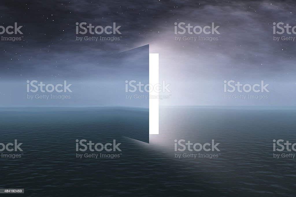 Door to heaven stock photo