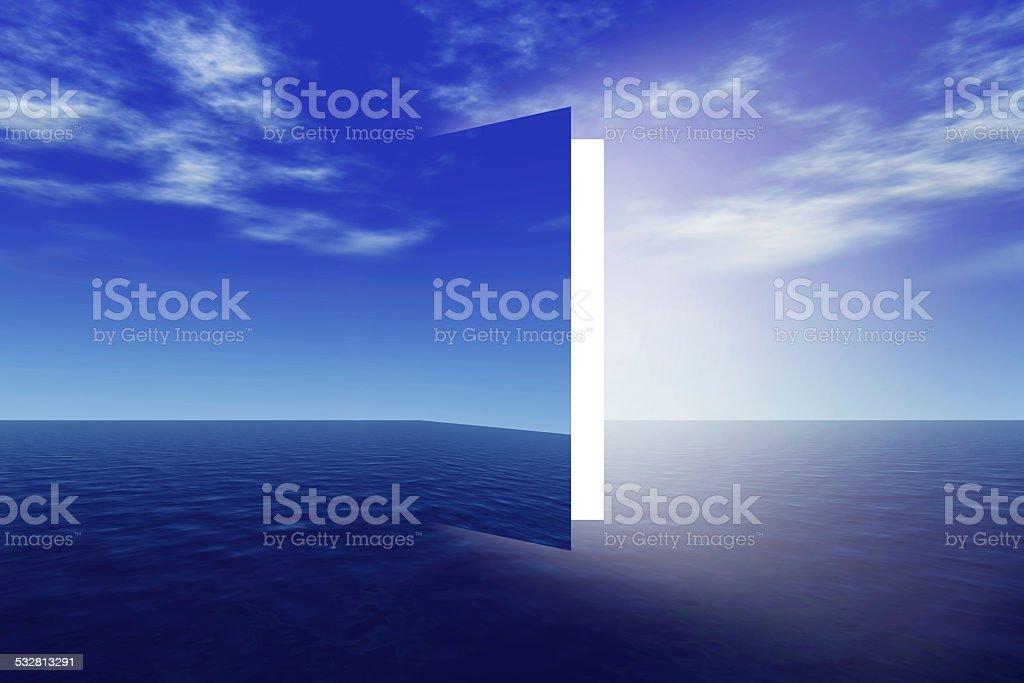 Door to heaven stock photo