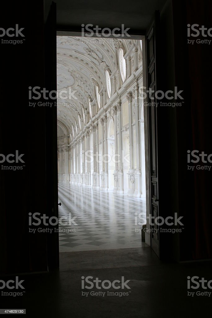 Door to marble hall stock photo