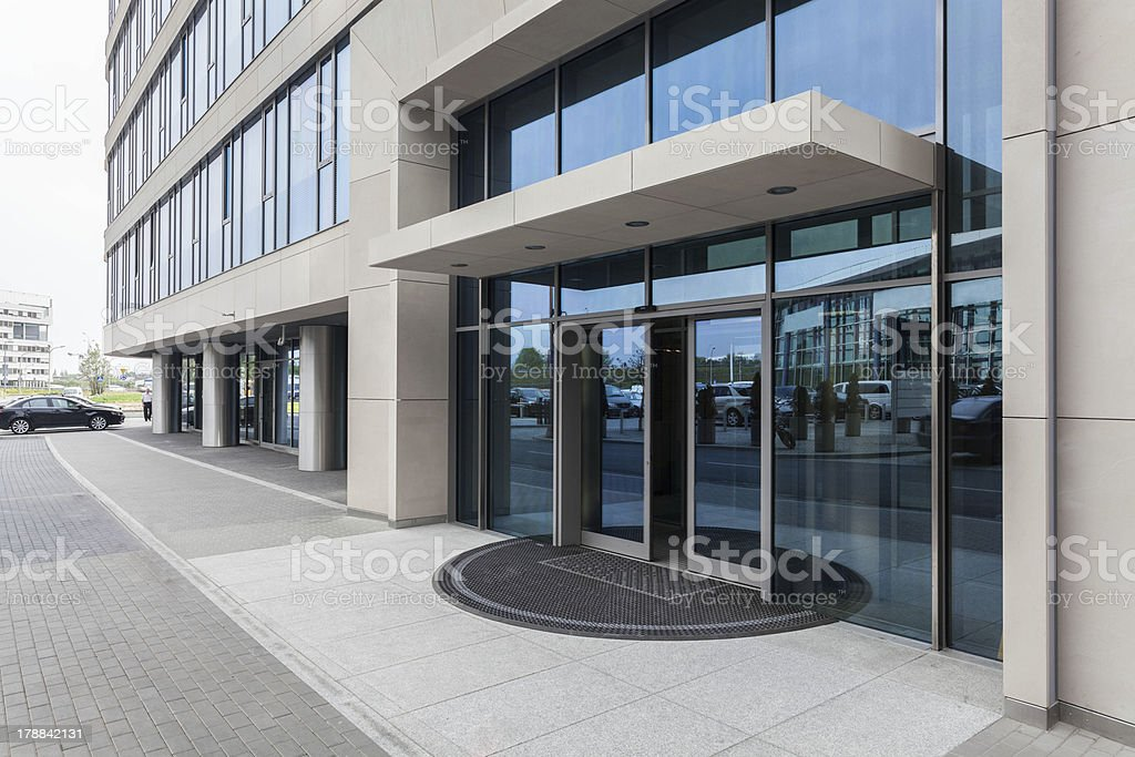 Door to office stock photo