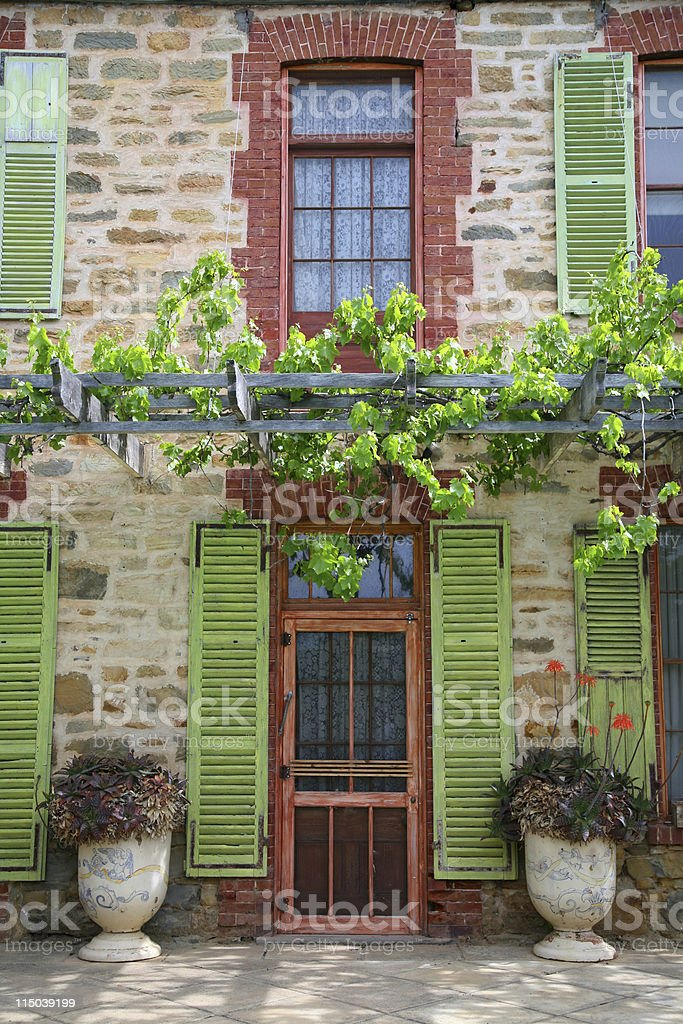 Door to old villa royalty-free stock photo