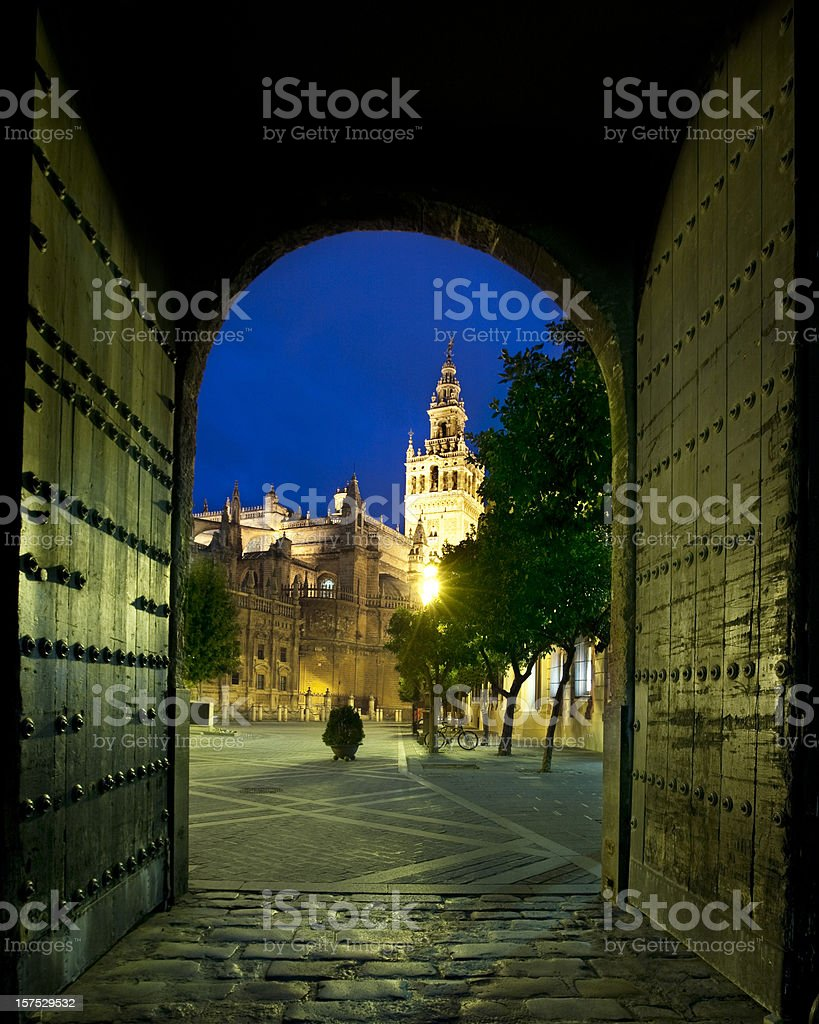 Door to Sevilla royalty-free stock photo