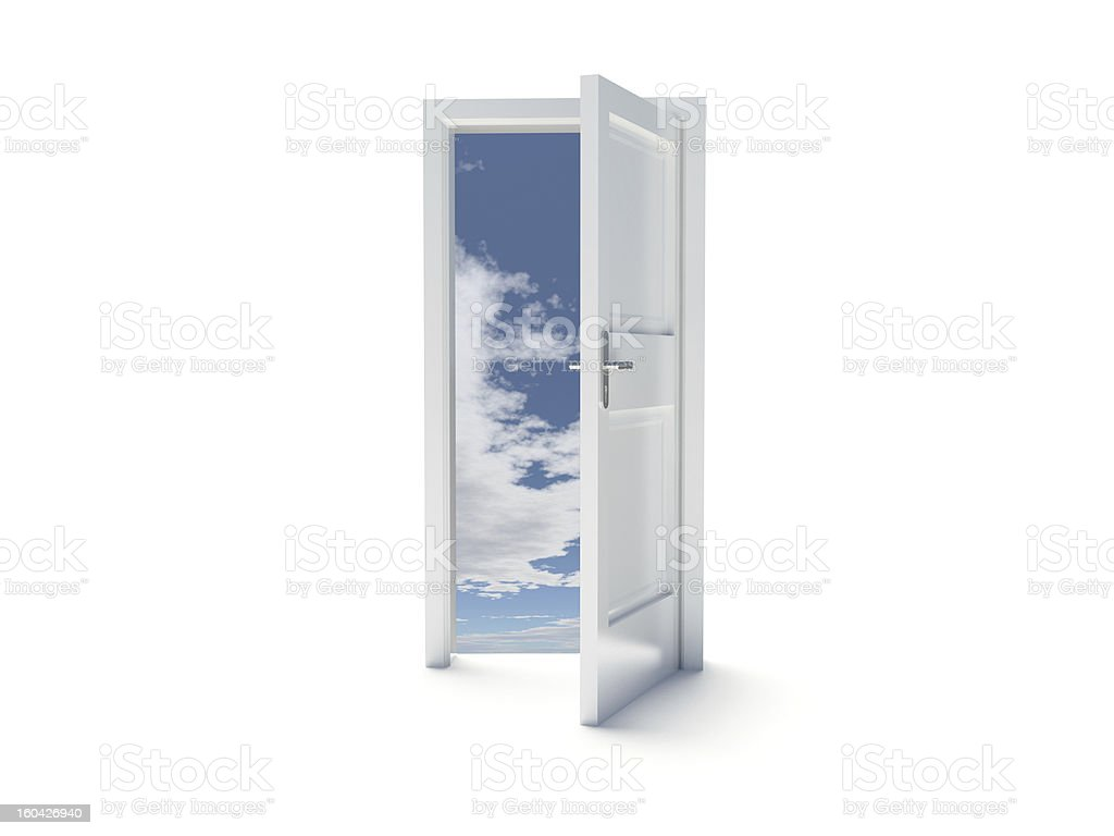 Door to sky royalty-free stock photo