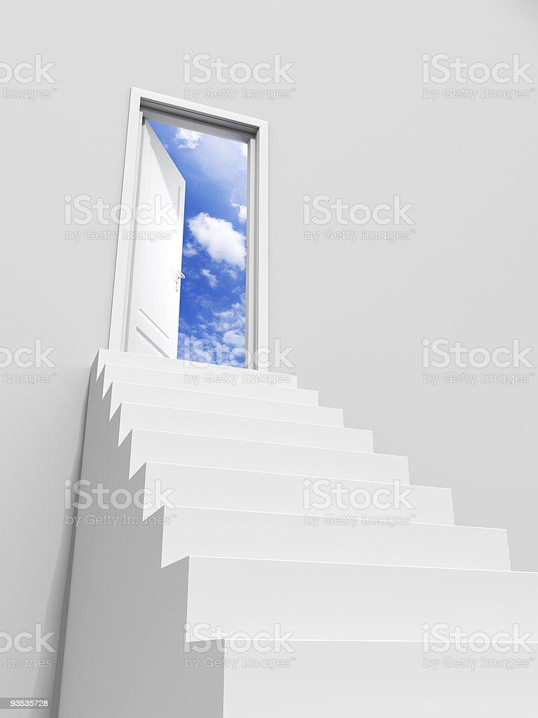 Door to sky stock photo