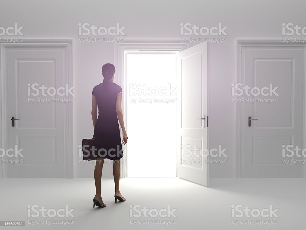 Door to success stock photo