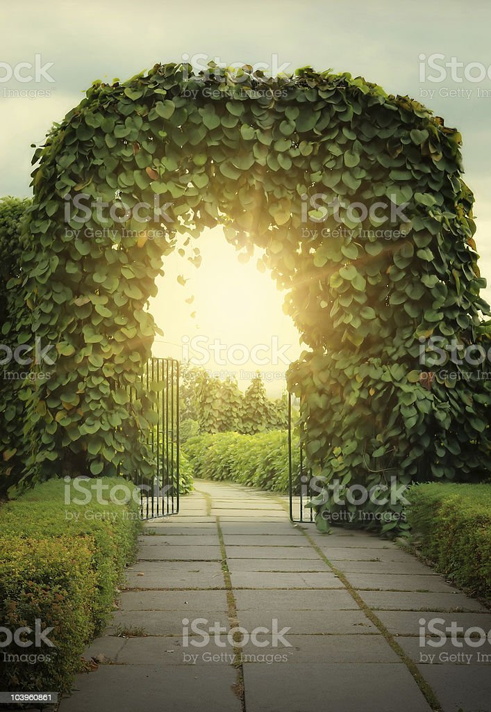 Door to the fairy land royalty-free stock photo