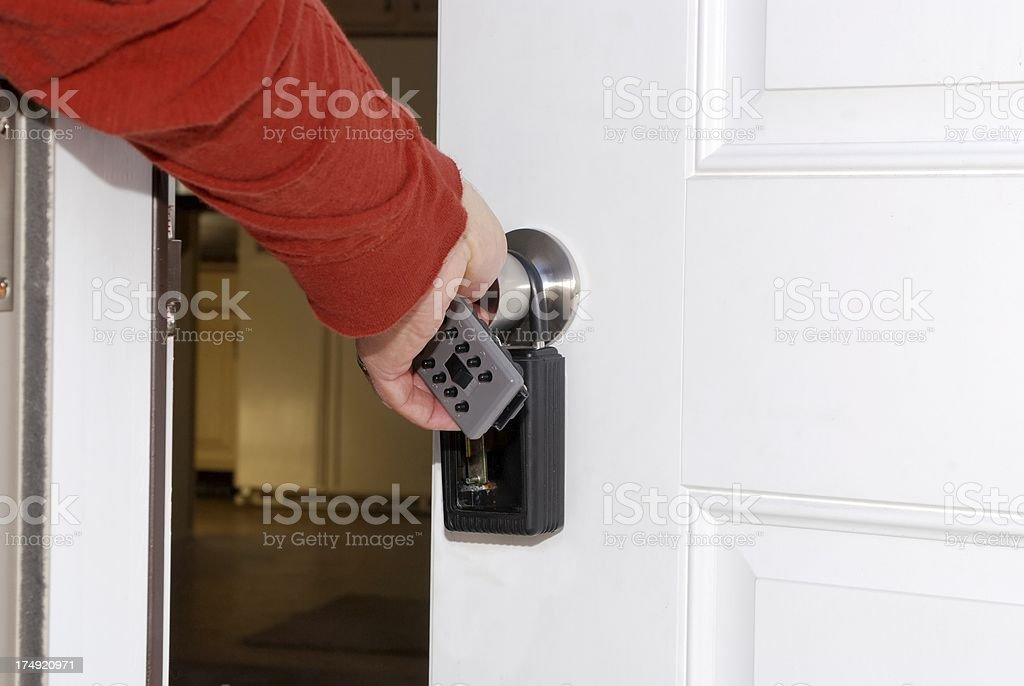 door to your new home royalty-free stock photo