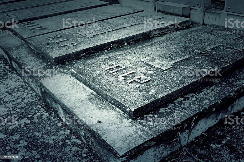 Door tomb cemetery stock photo
