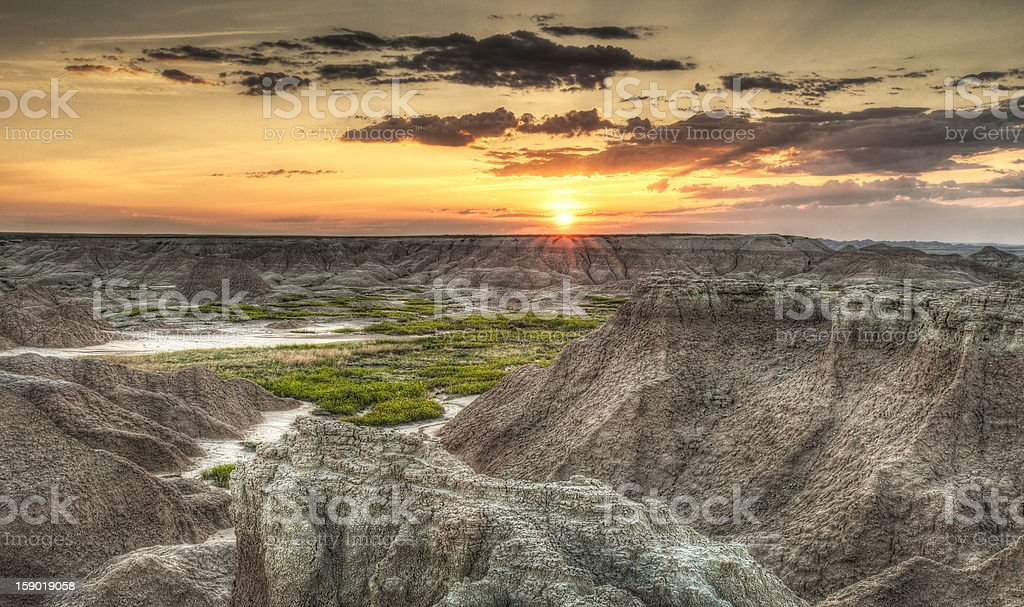 Door Trail Sunrise - Sun Up stock photo