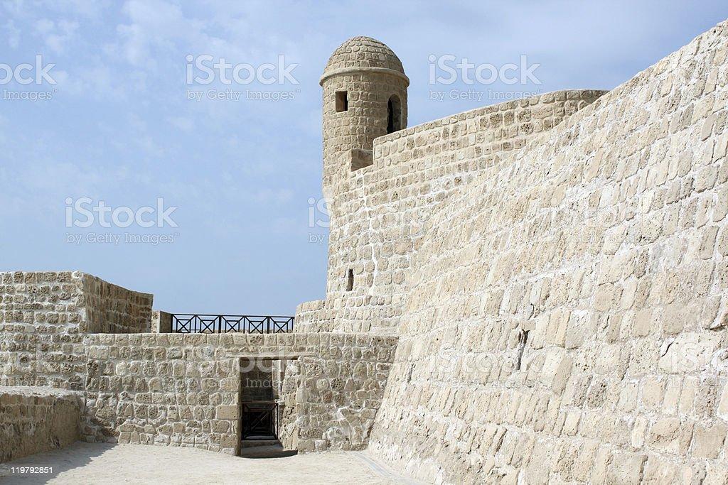 Door, wall, tower stock photo