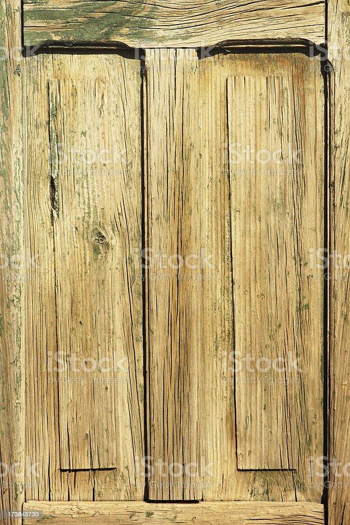 Door Weathered Wood Faded Woodgrain royalty-free stock photo